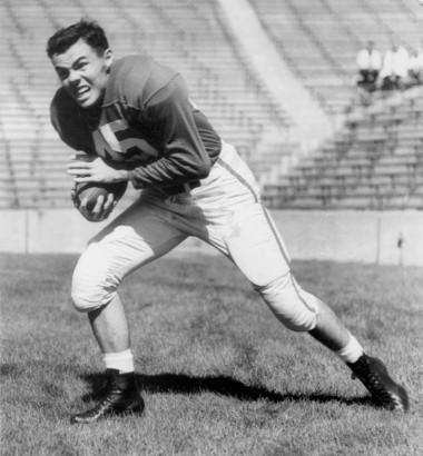 John D. Wilson in his football days at Michigan State University.