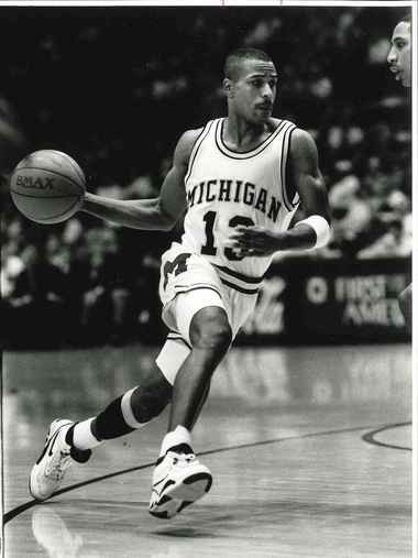 Flint native Demetrius Calip (No. 13) led the University of Michigan in scoring in 1990-91 (20.5 points per game). He was part of the Wolverines' only NCAA national championship team in 1989.