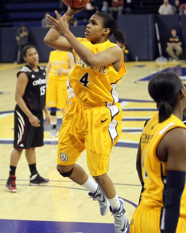 Flint native Arlesia Morse is still Hamady High School's all-time leading scorer and has already reached the 1,000-point scoring mark in her college career as a junior at Marquette University.