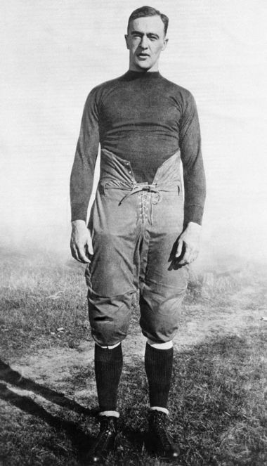 George Gipp, All American football player for Notre Dame, is shown in this undated file photo. Gipp once played baseball in Flint in 1920, while working in a Buick factory. (AP Photo)