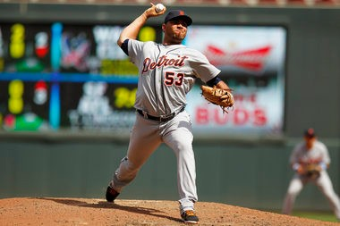 Joaquin retired one batter in the eighth and then returned to pitch the ninth Sunday afternoon against the Minnesota Twins.