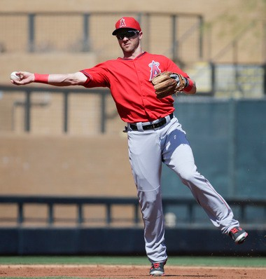 The Detroit Tigers acquired shortstop Andrew Romine from the Los Angeles Angels on Friday.