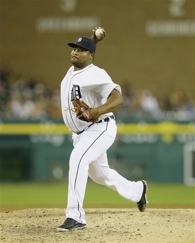 Detroit Tigers reliever Melvin Mercedes throws in the seventh inning against the Seattle Mariners on Friday in Detroit.