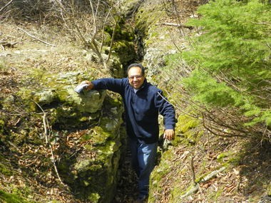 John Gonzalez of MLive found the Crack-in-the-Island near the Airport and not far from Wawashkamo Golf Course.