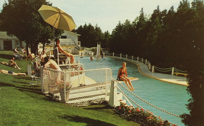 How a Hollywood star in a swimming pool helped save Mackinac ...