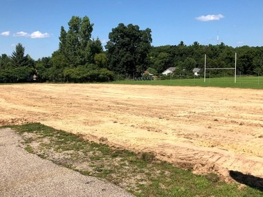 Contractors have already cleared away the grass to prepare for excavation of the new wing that will be added on to Wayland Middle School.Photo provided to MLive by Laurie Zywiczynski