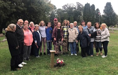 The Montague family gathered at Elmwood Cemetery in Wayland Township for a plaque and tree dedication ceremony to honor the memory of Nellie Montague, 68, who passed away in June 2016.Photo provided to MLive by Ann Mclnerney