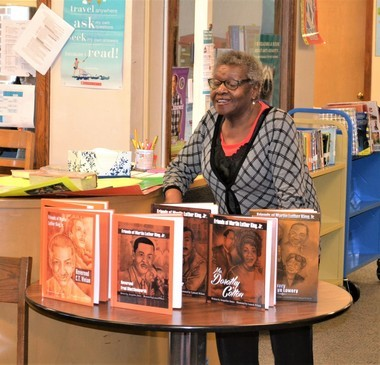 Ruby Fredricka Shuttlesworth Bester spoke with students about her experiences as the daughter of a civil rights movement leader. Photo provided to MLive by LaurieZywiczynski.