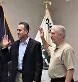 From left, Abe Garcia and Joe Kramer were sworn in at the Wayland City Council meeting on Dec. 3.Karen Turko-Ebright   MLive.com