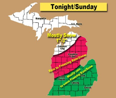 Weather Update: A sneaky storm tonight for parts of Michigan