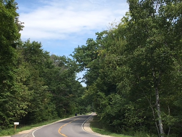 Looking down East Duck Lake Road in Grawn, MI on August 31, 2018