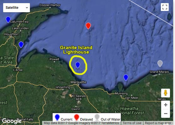 Location of Granite Island Lighthouse.