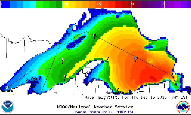 Monster waves, up to 27 feet, forecast for Great Lakes - mlive com