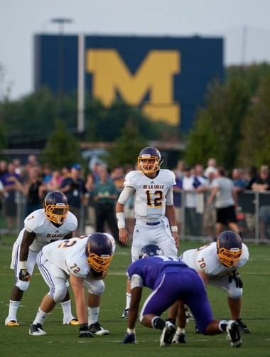 Michigan quarterback commit Shane Morris struggled in the Under Armour All-American Game on Friday night.