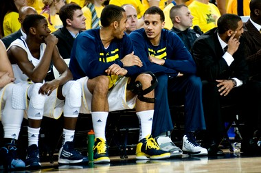 No. 1 Michigan played without starting junior center Jordan Morgan on Wednesday during a 68-46 win over Northwestern. It might have to do the same Saturday when it travels to No. 3 Indiana, as Morgan remains questionable with a right ankle injury.