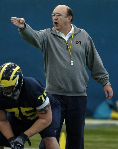 Mike DeBord, who served as Michigan's offensive coordinator during the 1997 national championship season, was hired by the university Friday as a sport administrator for the school's Olympic sports programs.