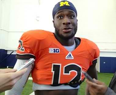 Michigan quarterback Devin Gardner will wear this jersey during Saturday's spring game. The jersey was obtained from Oregon State.