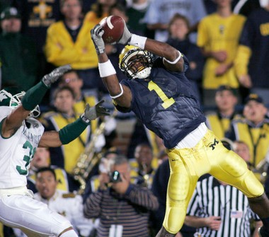 hot sale online 59ed1 fee07 Michigan uses No. 1 jersey to recruit WR Drake Harris ...