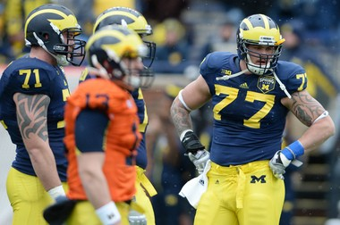 Taylor Lewan's return was a huge boost for Michigan. It might not have been a huge boost for his draft stock, according to ESPN's Mel Kiper Jr.