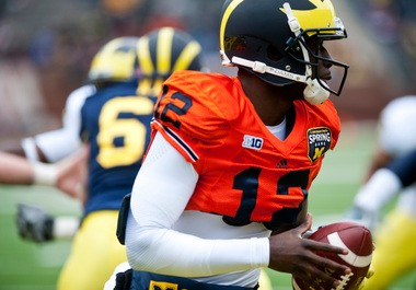 QB Devin Gardner is the new trigger man for the Michigan offense -- and he's impressed everywhere he's gone this offseason.