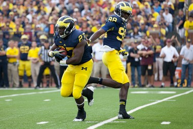 Michigan was picked to finish third in the Big Ten East in an unofficial media poll.