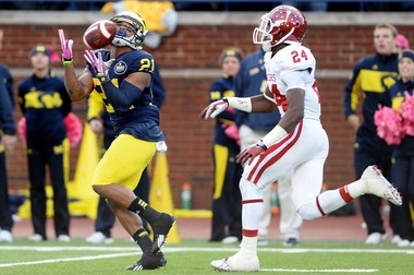 Former Michigan wide receiver Jeremy Gallon capped off a successful week at the East-West Shrine Game with 4 receptions for 55 yards.