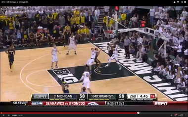 Levert's shot attempt is stopped by Appling