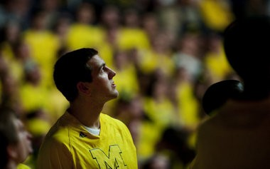 Mitch McGary at Crisler Center early in the 2012-13 season.