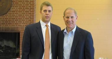 Patrick Beilein, son of Michigan coach John Beilein, was introduced as West Virginia Wesleyan College head coach on June 5, 2012.