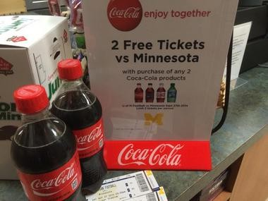 The Michigan Daily spotted a Coca-Cola promotion in the Michigan student union Monday night that caused quite a social media stir.
