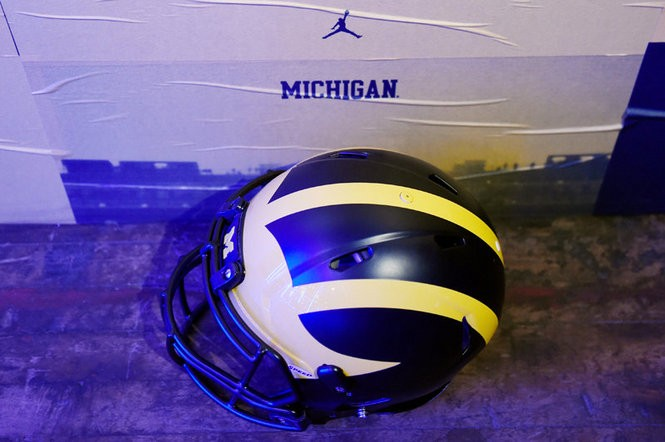 Michigan's winged helmet will have a matte finish this season.