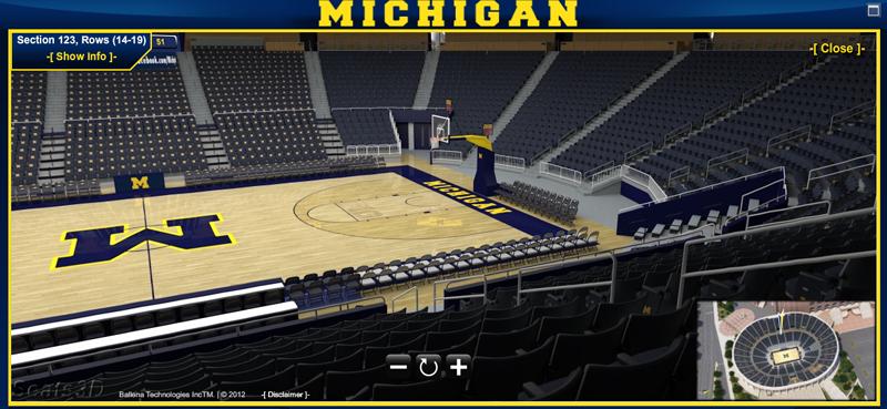 Michigan Basketball Offers Virtual Seating Chart As Season