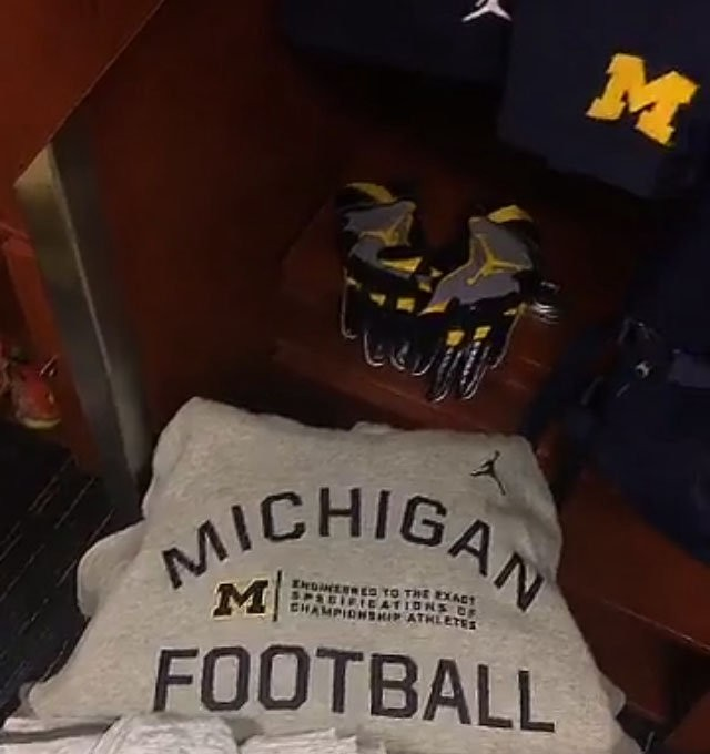 Michigan players got their new Jumpman gear Monday.