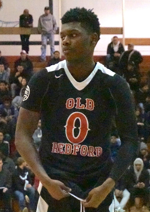 Detroit Redford Academy basketball player Mark Watts on Saturday, Feb. 3, 2018 at the Red Hawk Showcase, which is a 12-team tournament hosted by Union.