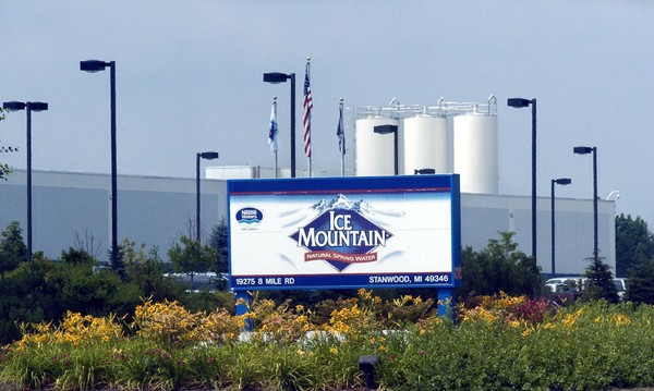 2007 exterior view of the Nestle Waters Ice Mountain bottling plant near Stanwood.
