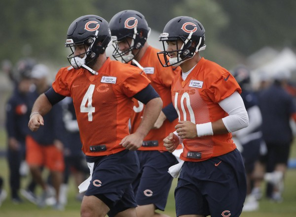 The Bears have to hope Mitchell Trubisky (10) has a little better awareness on the field. (Nam Huh | AP Photo)