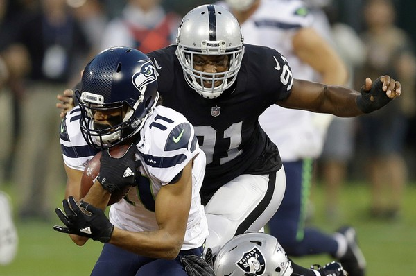 A former Big Ten Defensive Lineman of the Year, Shilique Calhoun hasn't been able to have the same impact in the NFL. (Ben Margot | AP Photo)