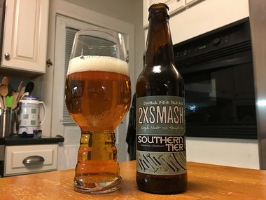 2XSMaSH is a single-hop, single-malt double IPA from Southern Tier Brewing Company.
