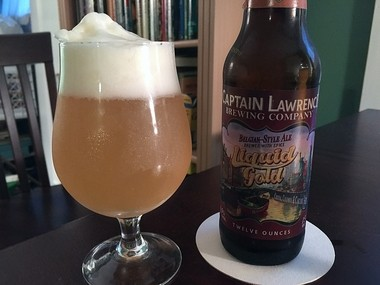 From Captain Lawrence Brewing Co. in Westchester County: Liquid Gold, a Belgian-style golden ale.