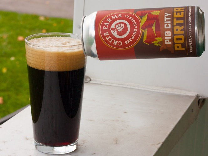 Critz Farms Brewing and Cider Co.'s Pig City Porter