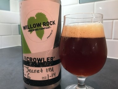 Secret IPA from Willow Rock Brewing Co., 115 Game Road in Syracuse.
