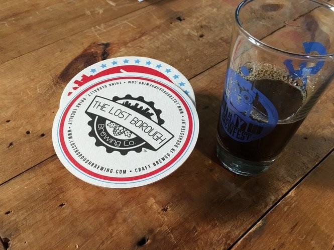 Rochester's Lost Borough Brewing Co. poured its Wicked Winter Ale at CNY Brewfest.
