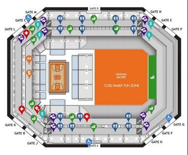 Carrier dome seating chart how to find your seat for syracuse