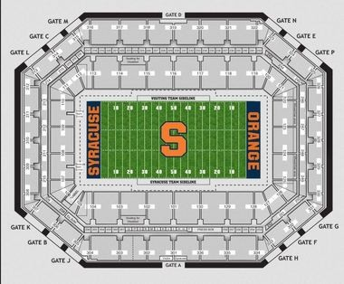 Carrier Dome seating chart: How to find your seat for ... on sanford stadium seating map, carrier dome seat location, u.s. cellular field seating map, chene park seating map, hilton coliseum seating map, xfinity center seating map, mackay stadium seating map, carrier dome tailgating, carrier dome events, carrier dome staff, gampel pavilion seating map, fedex forum seating map, joyce center seating map, us bank arena seating map, cameron indoor seating map, alumni hall seating map, hinkle fieldhouse seating map, valley view casino center seating map, carrier dome information, ryan field seating map,