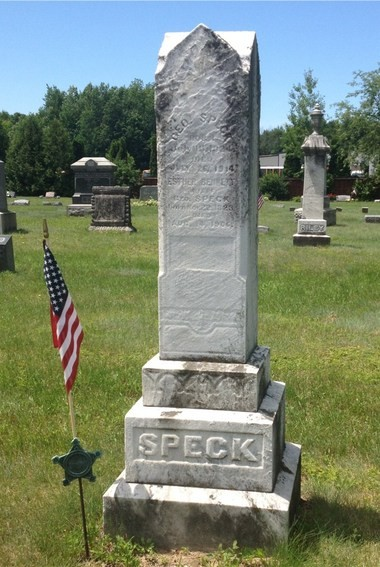 The gravesite of George Speck, also known as George Crum, the inventor of the Potato Chip, in Saratoga County.