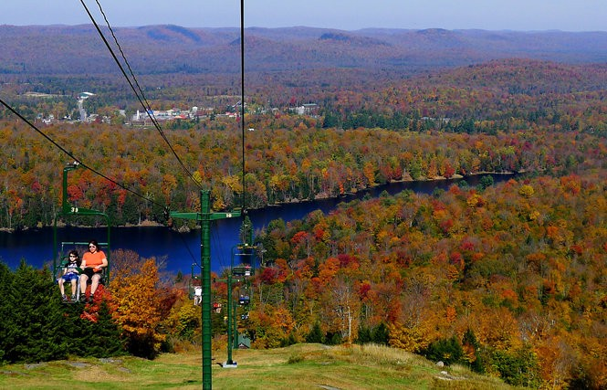 The view from the chair lift at McCauley Mountain in Old Forge.