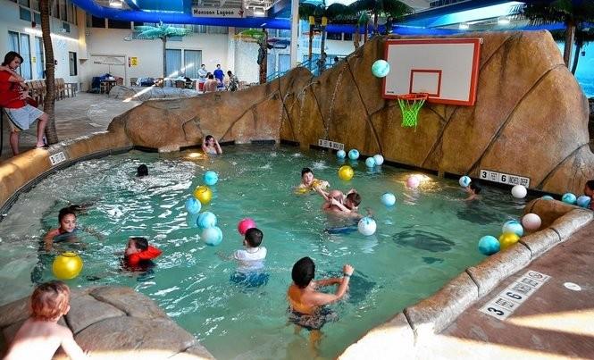 Paradise Bay pool at Palm Island Indoor Water Park, Batavia, N.Y.