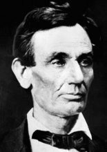President Abraham Lincoln is shown in a photograph by Alex Hessler, Nov. 1860 shortly after he won the election, in Chicago, Ill.