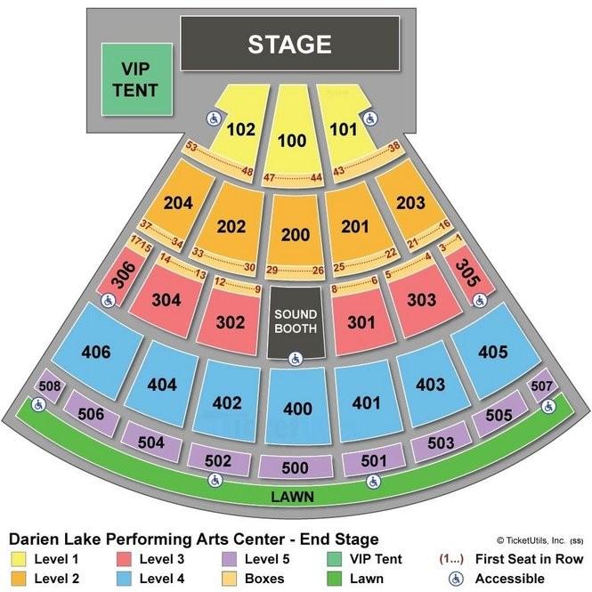 Darien Lake Performing Arts Center near Buffalo: Seating chart ... on