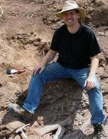Dr. Matthew Bonnan at an excavation site in South Africa, 2004 (photo courtesy of Matthew Bonnan).